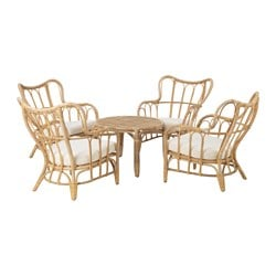 MASTHOLMEN 4-seat conversation set, outdoor, rattan