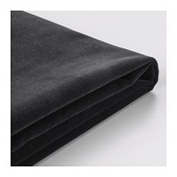 FÄRLÖV cover for ottoman with storage, Djuparp dark gray