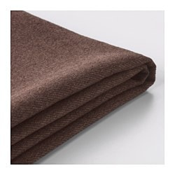 KIVIK cover for chaise longue, Borred dark brown