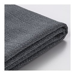 VALLENTUNA cover for back cushion, Hillared dark grey