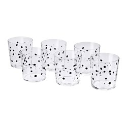 ÖVERSIKT glass, dotted Height: 9 cm Volume: 32 cl Package quantity: 6 pack