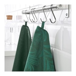 VILDKAPRIFOL dish towel, green leaves