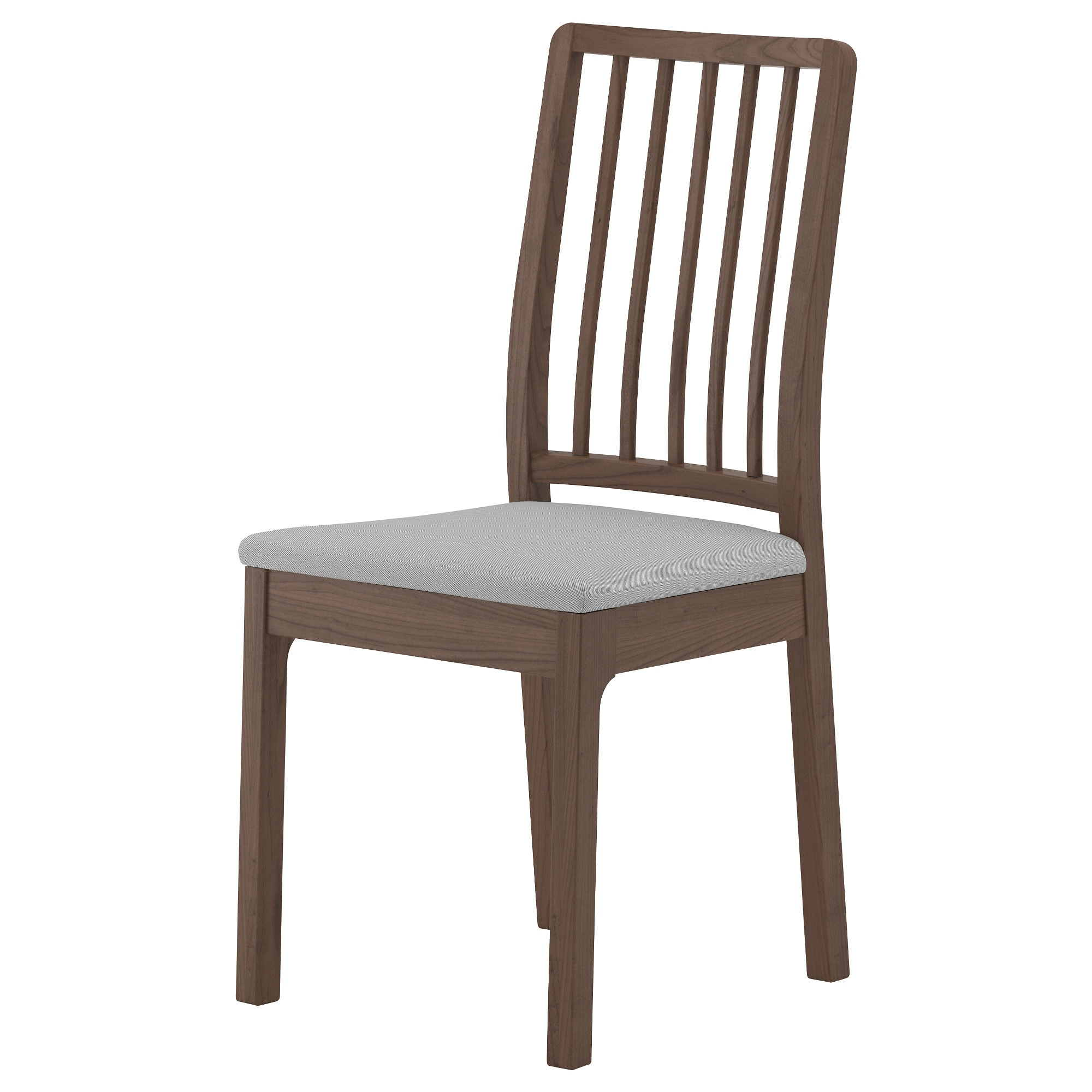 EKEDALEN Chair, Brown, Orrsta Light Gray Tested For: 243 Lb Width: 16
