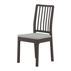 EKEDALEN chair, dark brown, Orrsta light grey
