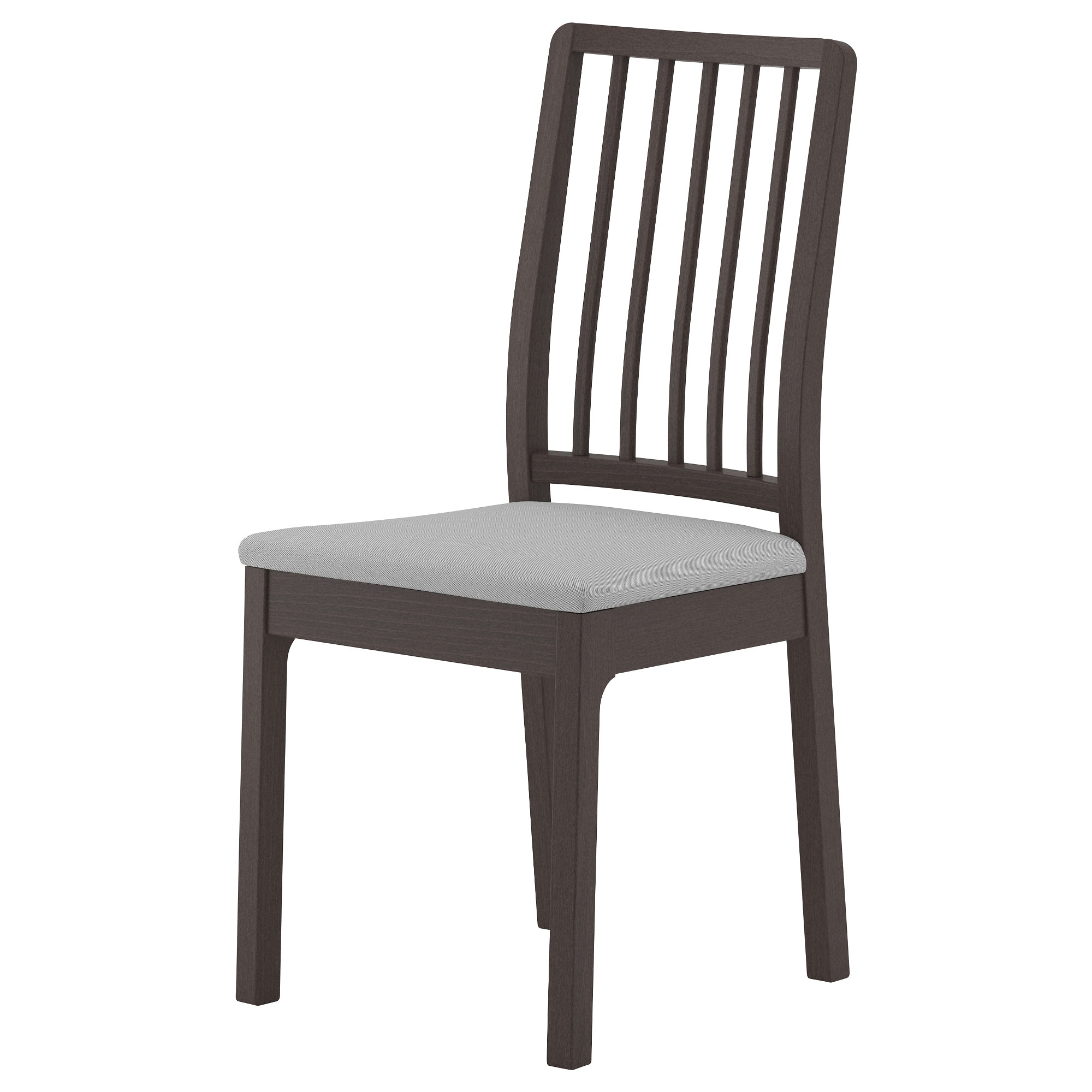 Charming EKEDALEN Chair, Dark Brown, Orrsta Light Gray Tested For: 243 Lb Width: