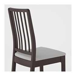 EKEDALEN Chair, Dark Brown, Orrsta Light Gray