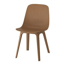 ODGER chair, brown Tested for: 110 kg Width: 45 cm Depth: 51 cm