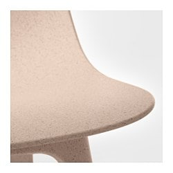 ODGER Chair, White, Beige