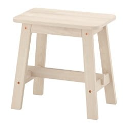 NORRÅKER stool, white birch