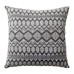 VINTER 2017 cushion, grey, knitted Length: 50 cm Width: 50 cm Filling weight: 750 g