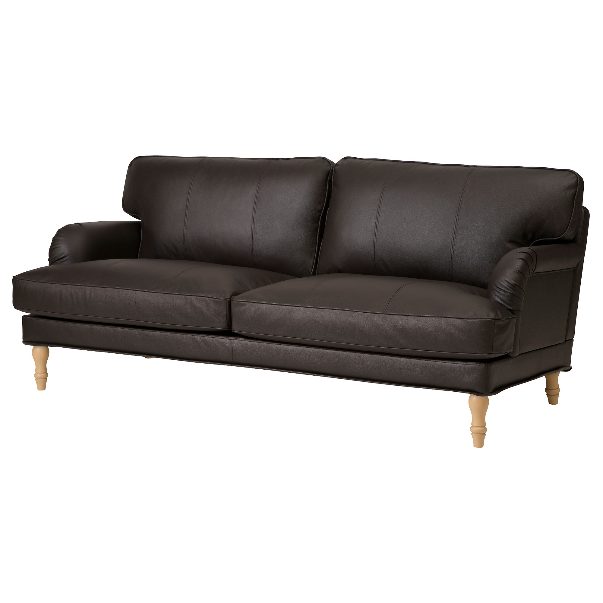 Beautiful STOCKSUND Sofa, Grann/Bomstad Brown, Light Brown/wood Width: 78 3