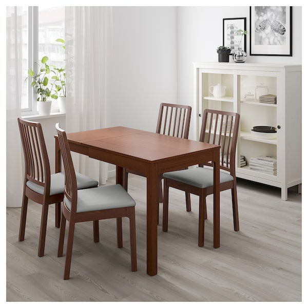 Ekedalen Extendable Table Brown Ikea