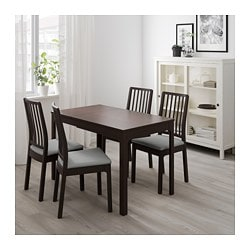 Ekedalen Extendable Table Dark Brown Ikea Family With A Rallonge