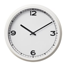 PUGG wall clock, white Diameter: 25 cm