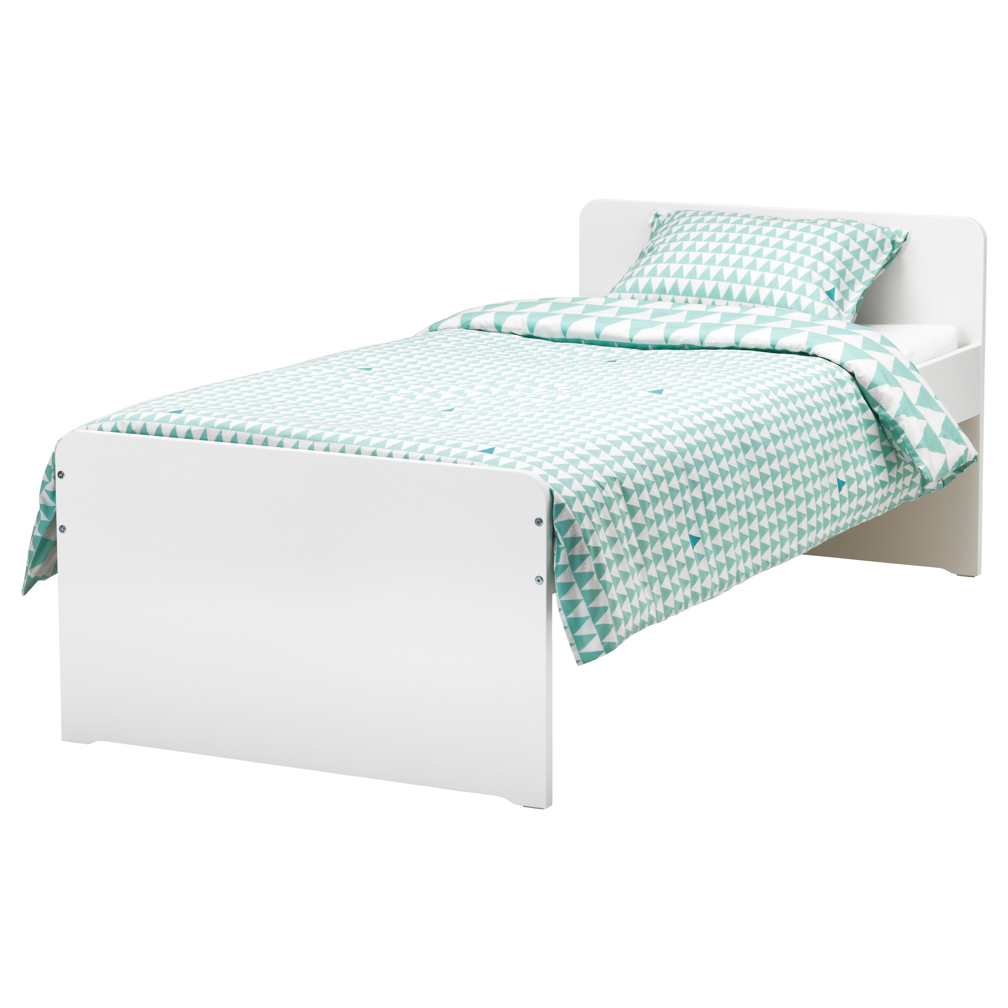 "SL""KT Bed frame with slatted bed base IKEA"