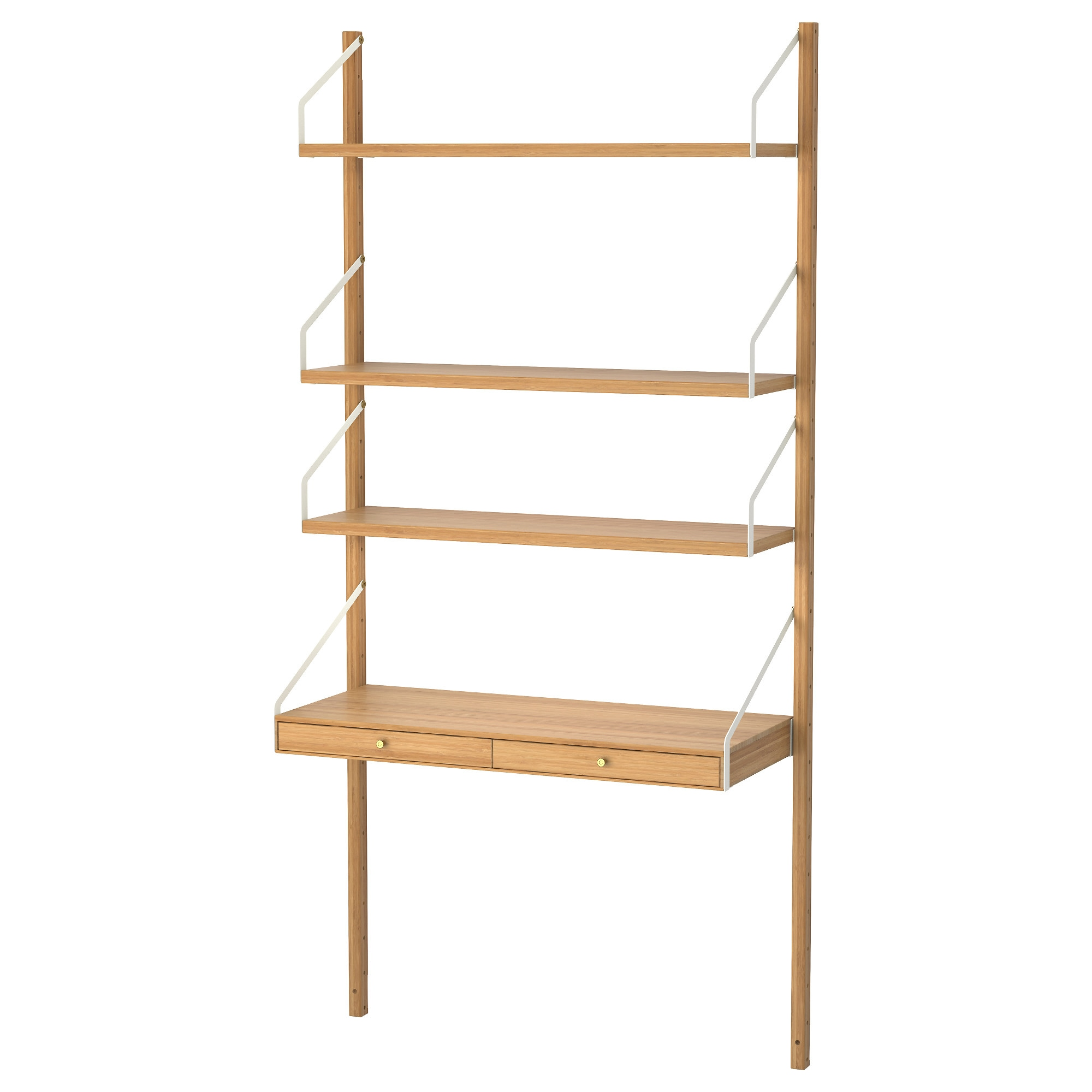 SvalnÄs Wall Mounted Storage Combination Bamboo Width 33 7 8 Depth