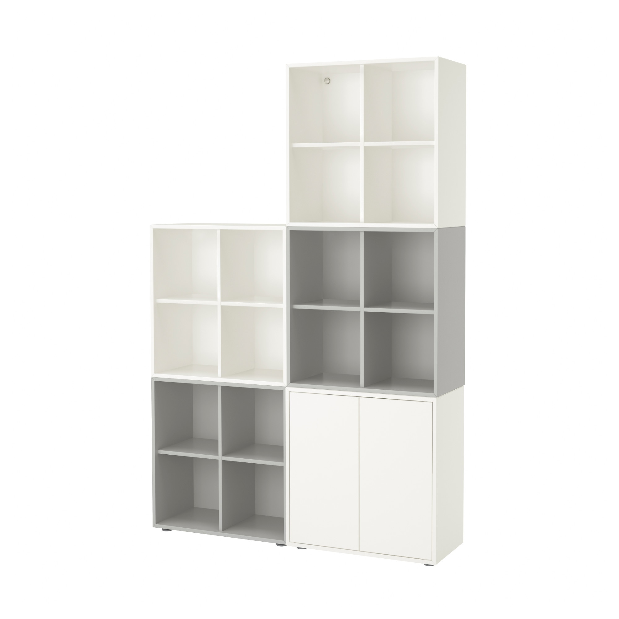 Eket Cabinet Combination With Feet White Light Grey