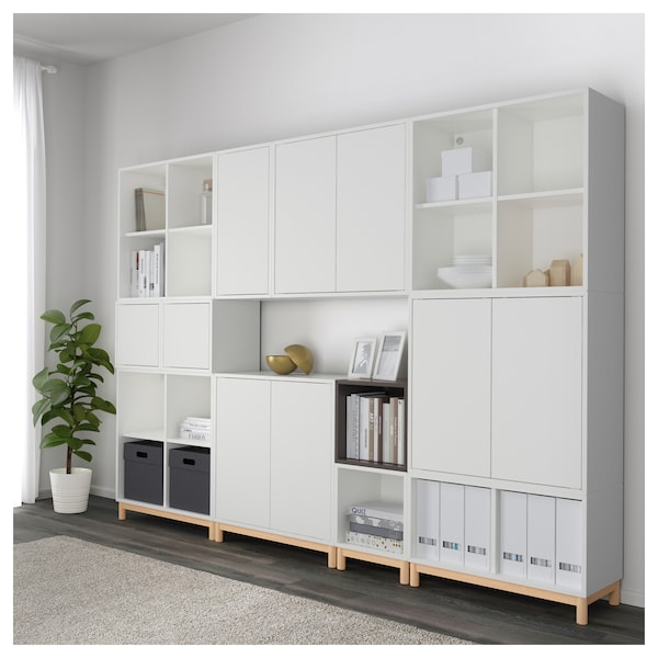 eket schrankkombination untergestell wei dunkelgrau ikea. Black Bedroom Furniture Sets. Home Design Ideas