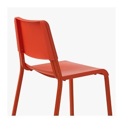 TEODORES Chaise Orange Vif IKEA FAMILY
