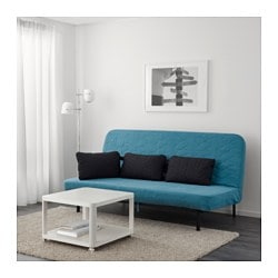 Nyhamn Futon With Pocket Spring Mattress Borred Green Blue