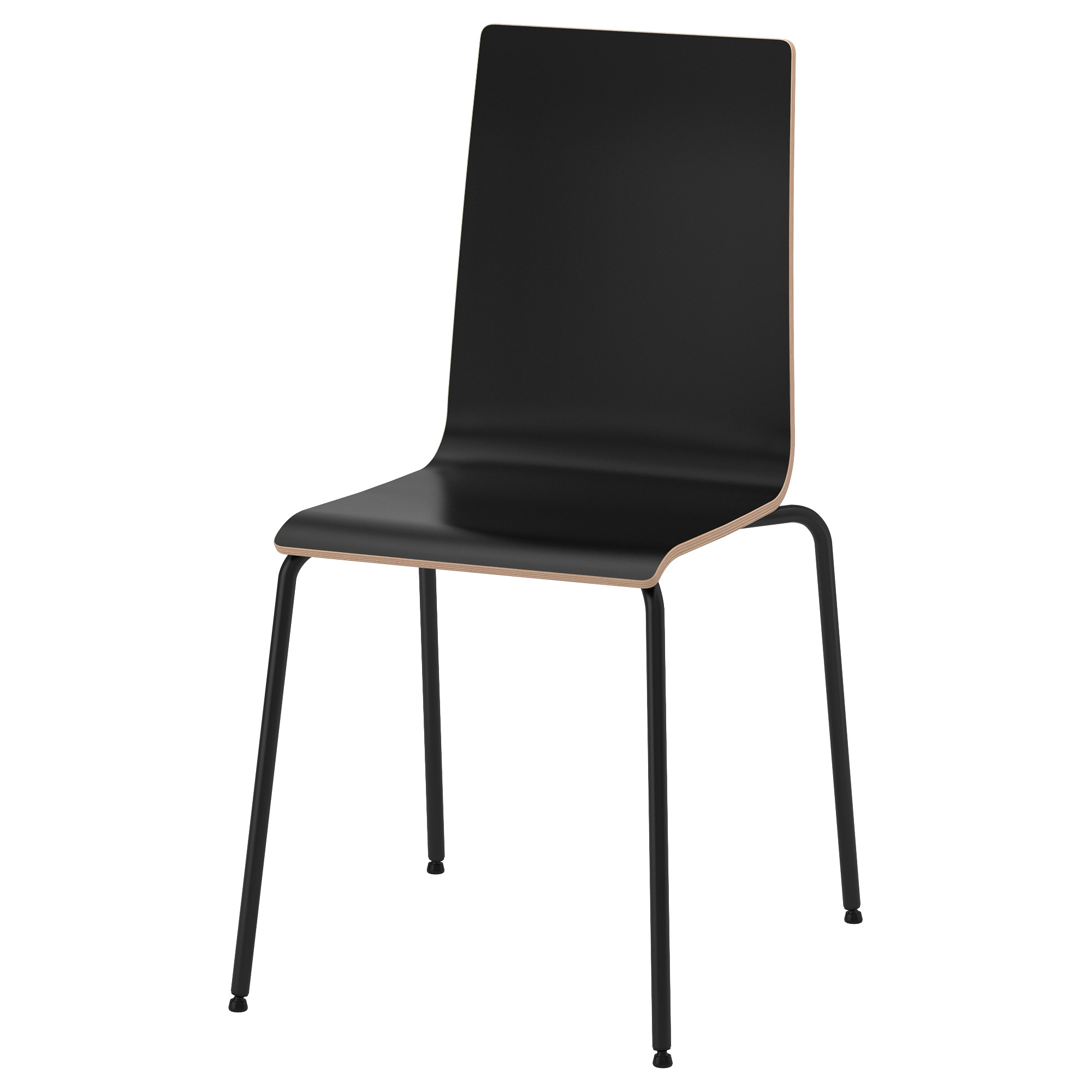 Free martin chair black black tested for lb width with for Chaise 65 cm ikea