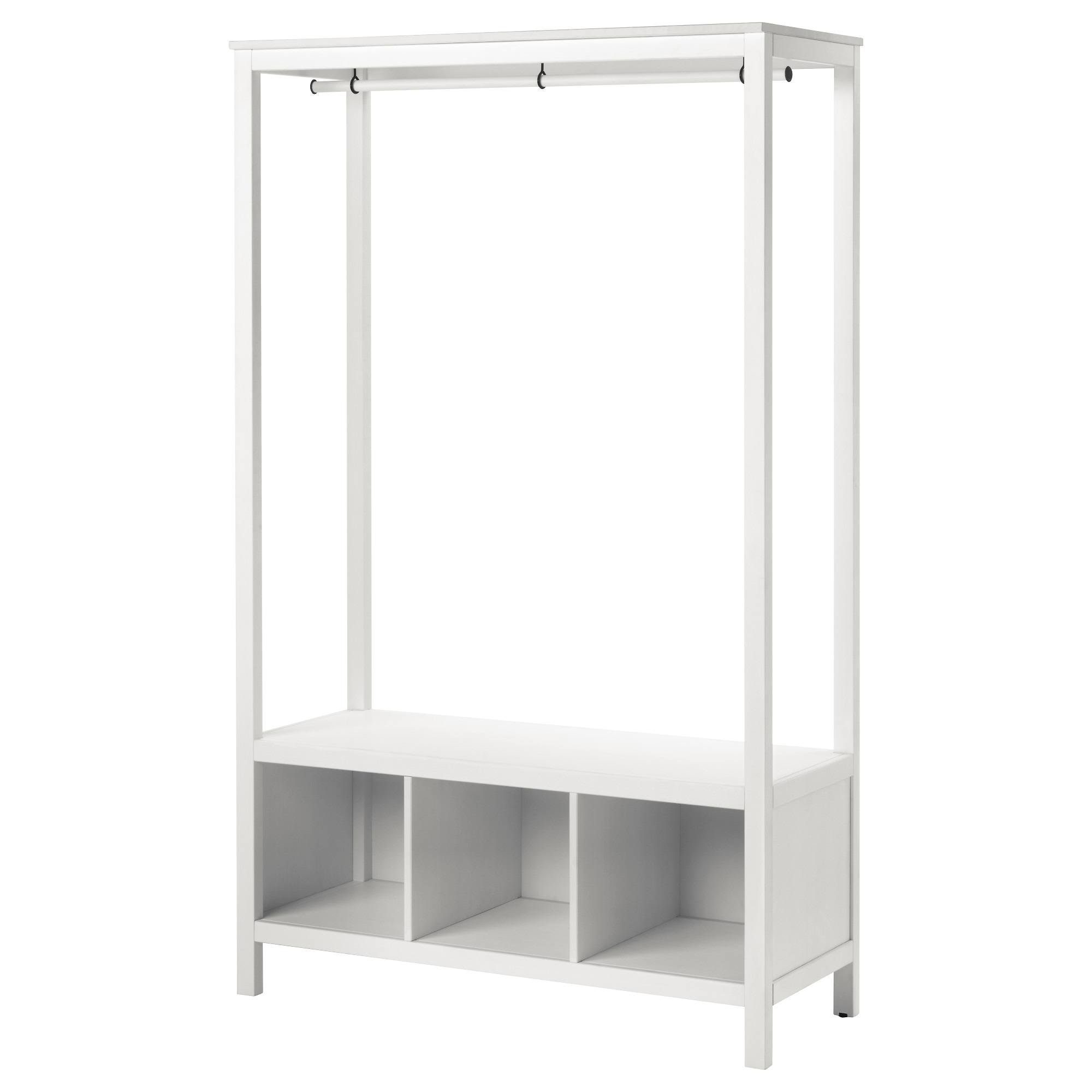 HEMNES Open Wardrobe White Stained IKEA - Ikea wardrobe