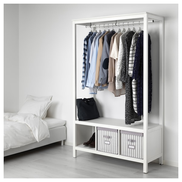 hemnes armario abierto tinte blanco ikea. Black Bedroom Furniture Sets. Home Design Ideas