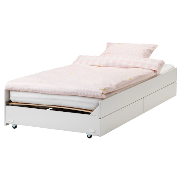 brand new be55a 6de90 Pull-out bed with storage SLÄKT white