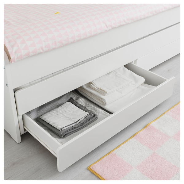 IKEA SLÄKT Bed frame w/pull-out bed + storage