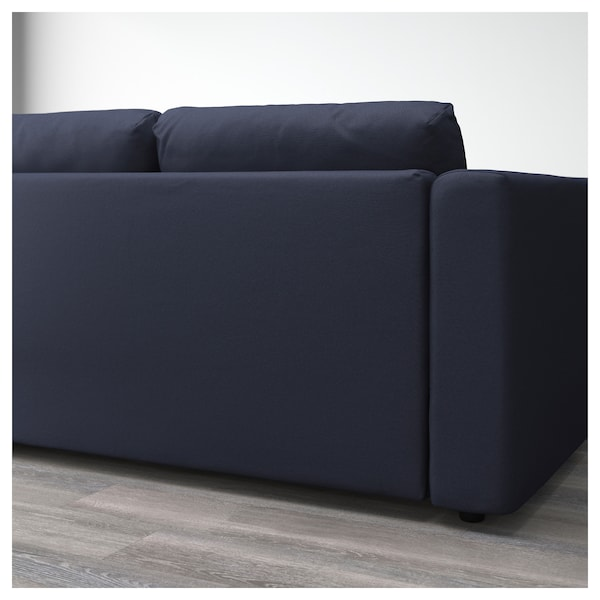 vimle 2er sofa orrsta schwarzblau ikea. Black Bedroom Furniture Sets. Home Design Ideas