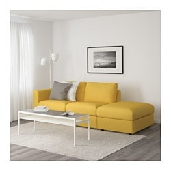 VIMLE Sofa, With Open End, Orrsta Golden Yellow