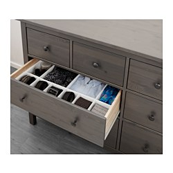 Hemnes 8 Drawer Dresser Gray Dark Stained