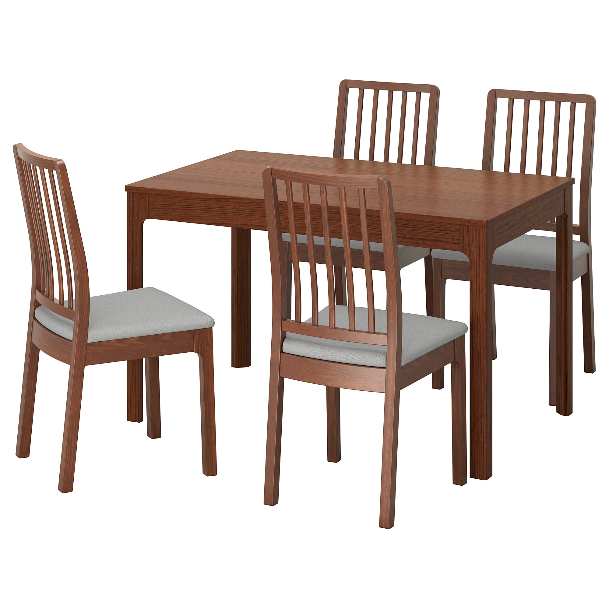 Ekedalen Ekedalen Table And 4 Chairs Brown Orrsta Light Gray