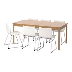 EKEDALEN /  BERNHARD Table and 6 chairs