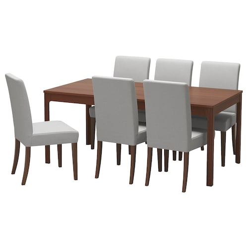 IKEA EKEDALEN / HENRIKSDAL Table and 6 chairs