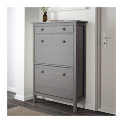 sc 1 st  Ikea & HEMNES Shoe cabinet with 2 compartments - white - IKEA