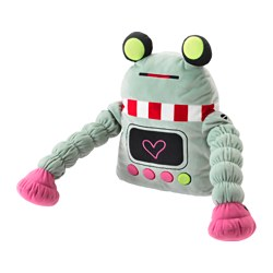 LATTJO soft toy, robot, light green
