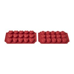 BAKGLAD chocolate mould, silicone red Length: 22 cm Width: 11 cm Height: 2 cm