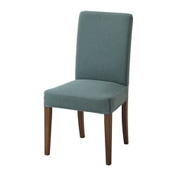 HENRIKSDAL chair, brown, Finnsta turquoise