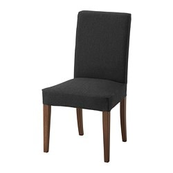 HENRIKSDAL chair, brown, Dansbo dark grey