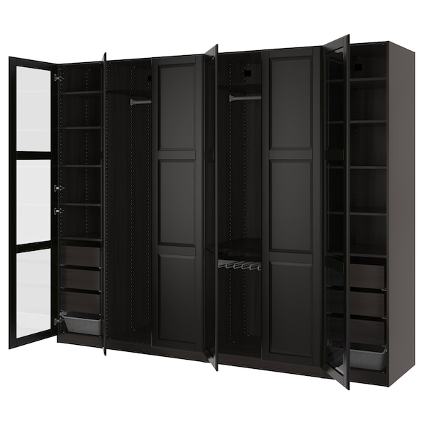pax kleiderschrank schwarzbraun undredal undredal glas ikea. Black Bedroom Furniture Sets. Home Design Ideas