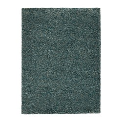VINDUM rug, high pile, blue blue-green