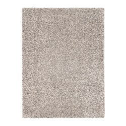 VINDUM rug, high pile, white