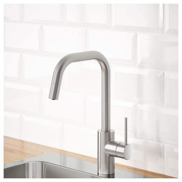 Kitchen Faucet With Pull Out Spout älmaren Stainless Steel Color