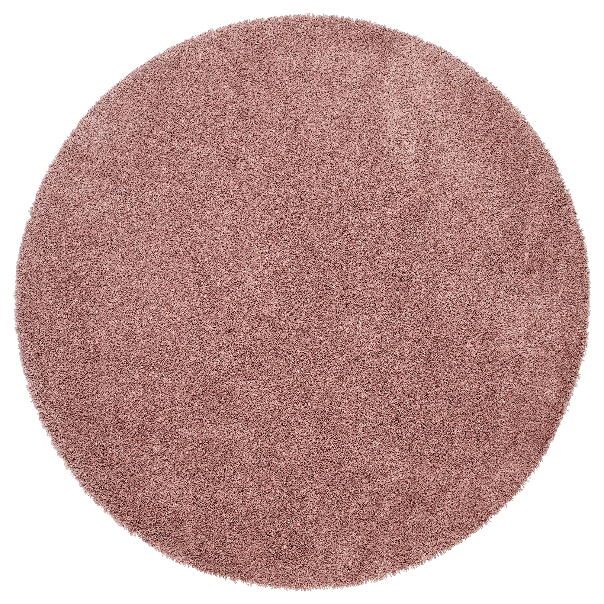ÅDUM Rug, High Pile, Pale Pink Diameter: 130 Cm Thickness: 18 Mm