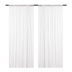 INGELINN sheer curtains, 1 pair, white