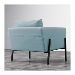 KOARP Armchair, Orrsta Light Blue, Black