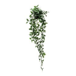 FEJKA, Artificial potted plant, indoor/outdoor, hanging