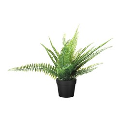 FEJKA artificial potted plant, indoor/outdoor fern