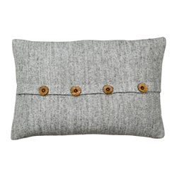 TVEBLAD cushion, dark gray
